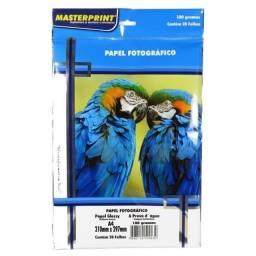 Pacote de papel fotográfico A4 180g 20 folhas