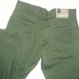 Calça verde musgo, Tam 16. Nova. Com elastano