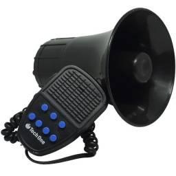 Sirene Automotiva Tech One 7 Tons com Microfone + Botão Interruptor - Caruaru - PE. (NOVO)
