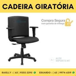 Cadeira Giratória com Braço Escritório Audiplax Preto Plaxmetal Cadera cuiaba