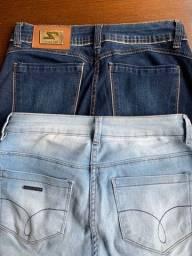 Calças jeans -clara e escura