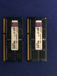 Memória RAM Notebook 8 gigas (2x4)