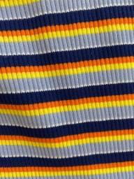 Blusa de manga comprida colorida Fórum