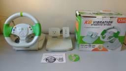 VOLANTE C/ PEDAL P/ XBOX 360 e PC