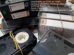 Conversão de Fitas de VÍDEO/ VHS, Filmes em Película Super8, Filme 16mm, Slides