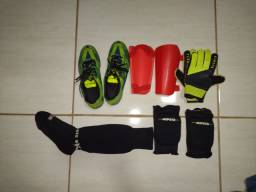 Chuteira kit de futebol completo