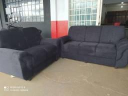 Jogo de sofá 2 e 3 lugares, Apenas, 10x de R$ 79,99