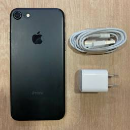 Loja física. IPhone 7 32Gb preto 100% novíssimo