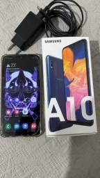 Samsung Galaxy A10 com caixa e carregador