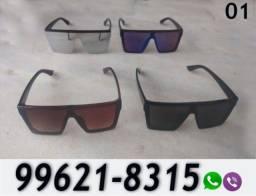 Óculos de Sol Quadrado Unissex