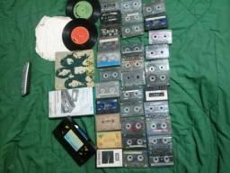 33 fitas 2 vinil 1 fita limpa video cassete