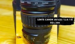 Lente canon 28 / 135 / 5.6 / IS