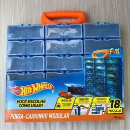 Porta Carrinho Hot Wheels com 18 Módulos