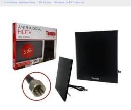 Antena Digital Hdtv Interna 5 Dbi Fixacao Na Parede Mta-3006