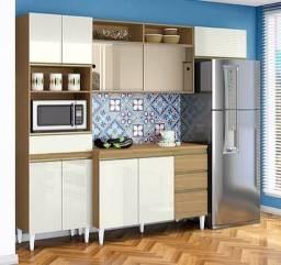 Armário de cozinha com puxador embutido X3
