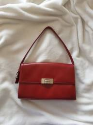 Bolsa Vermelha couro fake