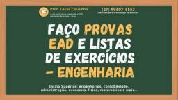 Resolvo Provas, Faço Listas de Exercícios (Engenharias Gerais, Direito, Contábil e mais)