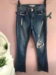 Calças jeans Zara e Colcci
