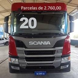 Scania P320 2020 8x2 Bitruck Carga Seca Entrada mais Parcelas com Serviço.