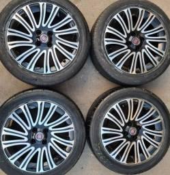 Rodas aro 16+4 pneus 185/55 R16 Bridgestone!(2.250$ até 10x sem juros no cartão)