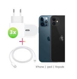 (NOVO) Carregador Para iPhone Fonte Tipo C 18w Recarga Rápida