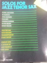 Livro Solos for jazz tenor Sax