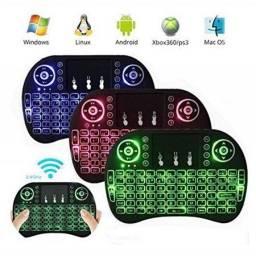 Mini Teclado Smart Sem Fio LED TouchPad Mini Keyboard Iluminado - Loja Natan Abreu