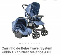 Carrinho de bebê kiddo + Bebê Conforto