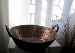 Tacho antigo de cobre grande pesado, leia descrição!