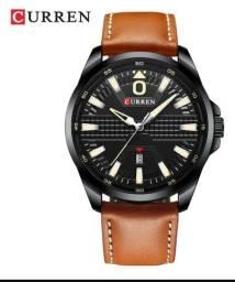 Relógio curren 8379 pulseira de couro marron
