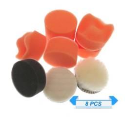 Kit De Polimento Boina Espumas E Lã 2 Pol 4,8 Cm