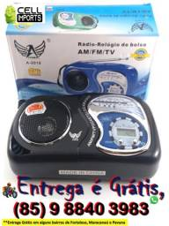 Radio Relógio de Bolso Entrega Grátis