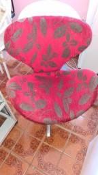 poltrona cadeira giratória para sala estampada linda