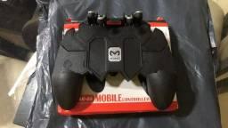 Controle de Jogo de Celular AK66 com Botão para Seis Dedos Freefire Pubg