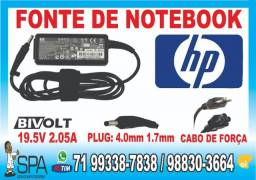 Carregador Hp Mini 19.5V 2.05A 40w Plug Preto 4.0mm x 1.7mm