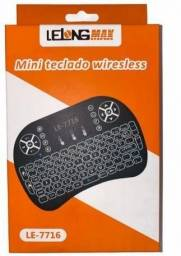 Miniteclado wireless com led