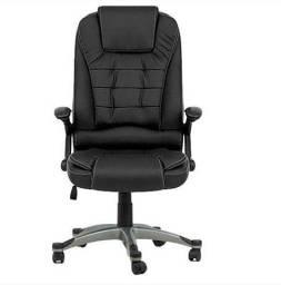 Cadeira De Escritório Presidente Confort Couro Preto