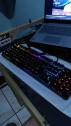 Teclado Mecânico RGB retroiluminado switch blue novo