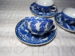 Jogo 3 Xíracas De Chá Porcelana Casca De Ovo Japonesa