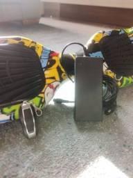 Hoverboard Skate Elétrico Bluetooth Com Roda 6.5 Pol. Amarelo Palhaço - Overboard
