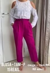Blusa e calça super diferentes e estilosas