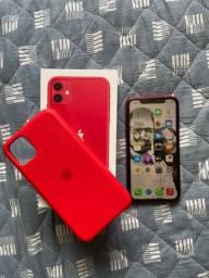 iPhone 11 Red 64 na garantia e NF