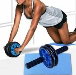Rolinho Exercícios Rodinha Abdominal Aparelho Fitness!