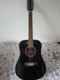 vendo um violão 12 cordas.     elétrico             e
