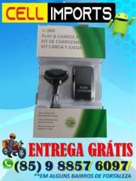 Bateria Para Controle X-box 360 + Cabo Usb - Entrega Grátis