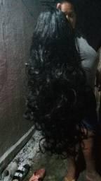 Peruca cabelo orgânico novo só coloquei pra vc ver como ficar