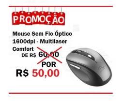 Mouse sem fio Confort Multilaser -Produto novo
