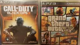 Call of Duty BO III e GTA 5 para PS3