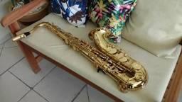 Sax Tenor Júpiter semi novo** boquilha Selmer C