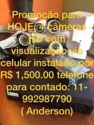 Kit de 4 câmeras instaladas em HD